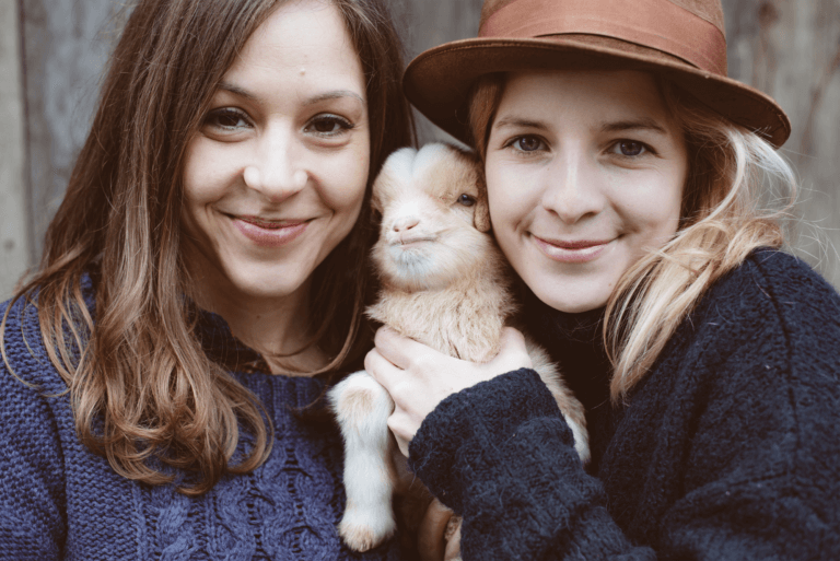Women With Baby Goat