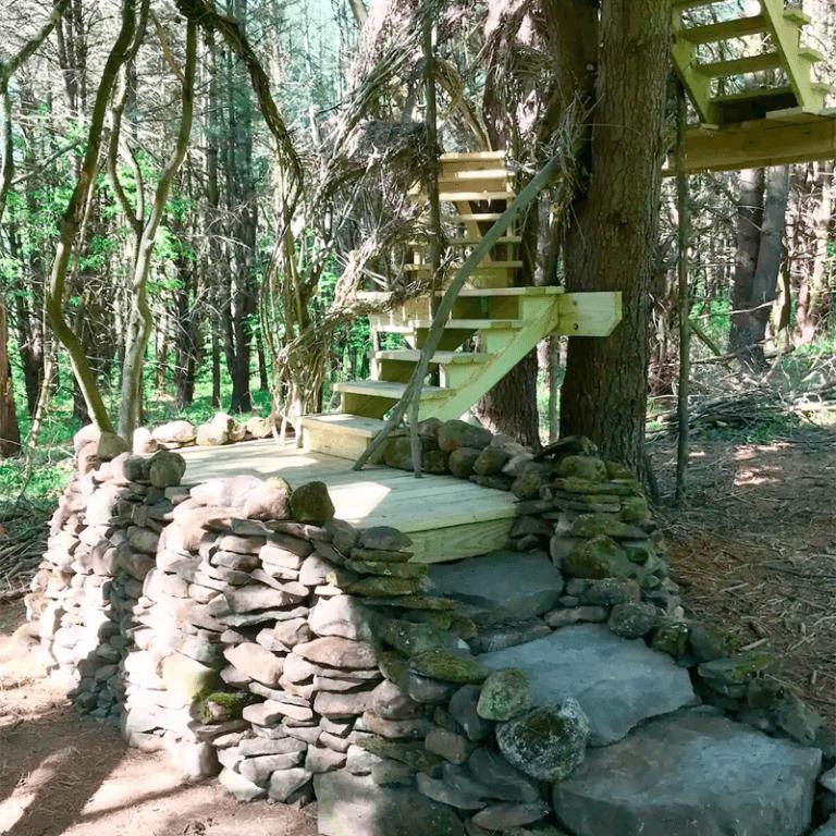 Mariaville Goat Farm Treehouse