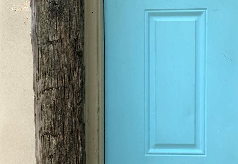 Yurt Blue Door